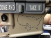 Bacon Maker AR-15 lower receiver with Texas Secession inscription