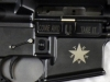 Bacon Maker AR-15 lower receiver with Republic of Texas flag designed by General Lorenzo de Zavala