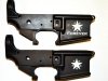 Bacon Maker AR-15 lower receivers with Republic of Texas flag designed by General Lorenzo de Zavala